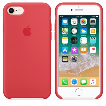 Силиконовый чехол Apple для iPhone 7/8 red raspberry (спелая малина)