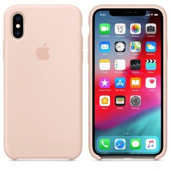 Силиконовый чехол для iPhone XS, Розовый песок