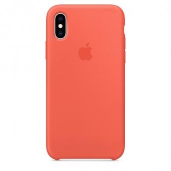 Силиконовый чехол для iPhone XS, Спелый нектарин