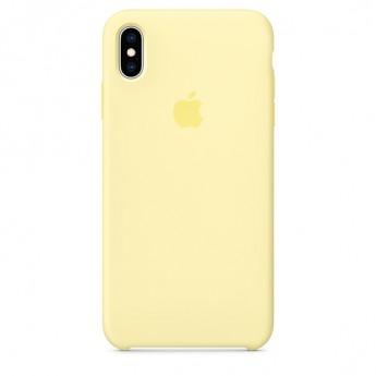 Силиконовый чехол для iPhone XS MAX, Лимонный крем