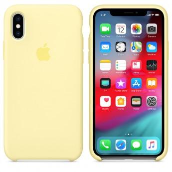 Силиконовый чехол для iPhone XR, Лимонный крем
