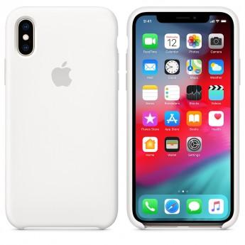 Силиконовый чехол для iPhone XR, Белый