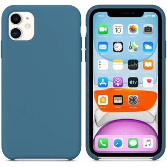 Силиконовый чехол для iPhone 11 Midnight Blue (тёмно-синий)