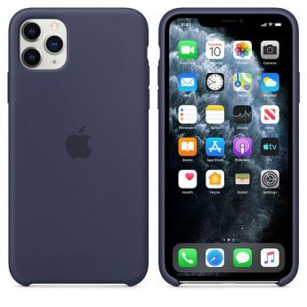 Силиконовый чехол для iPhone 11 Pro Max Midnight Blue (тёмно-синий)