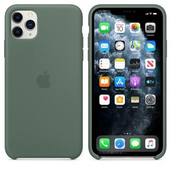 Силиконовый чехол для iPhone 11 Pro Max Pine Green (сосновый лес)