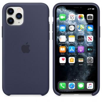 Силиконовый чехол для iPhone 11 Pro Midnight Blue (тёмно-синий)