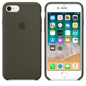 Силиконовый чехол Apple для iPhone 7/8 Dark Olive (Тёмно-оливковый)