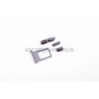 iPhone 5s - задняя крышка в стиле iPhone 6, space gray