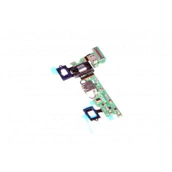 Шлейф Samsung Galaxy A3 SM-A3000 с разъемом зарядки, кнопкой домой и аудио входом (Original)
