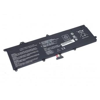 Аккумуляторная батарея для ноутбука Asus X202 7.4V 5000mAh OEM черная