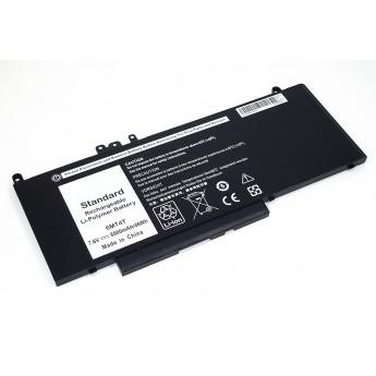 Аккумуляторная батарея для ноутбука Dell Latitude 14-E5470 7.6V 6000mAh черная OEM