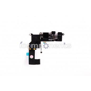 iPhone 5s - нижний шлейф зарядки, черный
