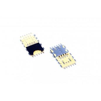 Коннектор SIM-карты (сим), mmc коннектор Blackberry 9900 / 9930 ( S49 )
