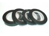 Скотч двусторонний черный вспененный с зеленой защитной лентой толщина 1мм ширина 8мм 5м