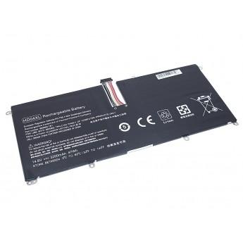 Аккумуляторная батарея для ноутбука HP Envy Spectre XT 13-2120t (HD04-4S1P) 14.8V 3200mAh OEM черная