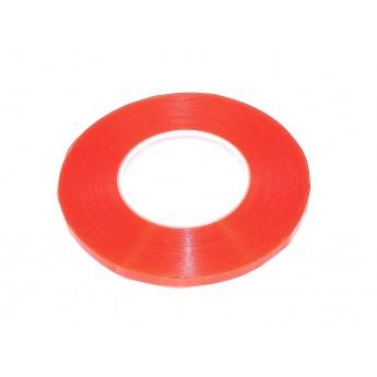 Скотч двусторонний прозрачный 3M с красной защитной лентой ширина 8мм 50м