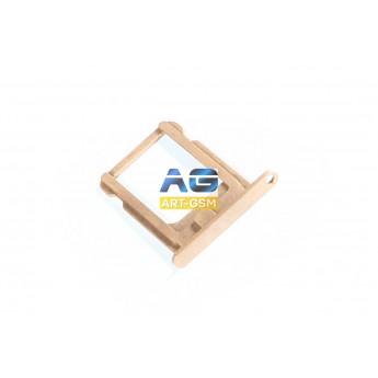 SIM лоток (Держатель сим карты) Apple IPhone 5S Gold (I77)