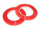 Скотч двусторонний прозрачный 3M с красной защитной лентой ширина 10мм 25м