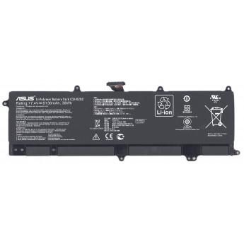 Аккумуляторная батарея для ноутбука Asus VivoBook S200 (C21-X202) 7.4V 38Wh Original черная