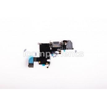 iPhone 6 - нижний шлейф зарядки, черный